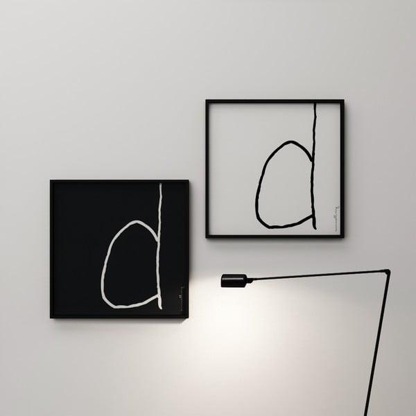 Plagát Litera D, 50x50 cm