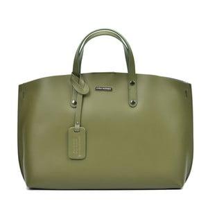 Zelená kožená kabelka Luisa Vannino Veronica