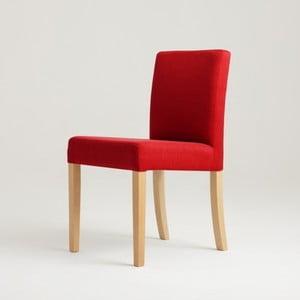 Červená stolička s prírodnými nohami Custom Form Wilton