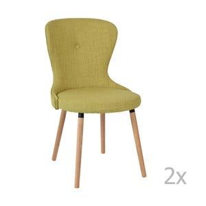 Sada 2 zelených stoličiek RGE