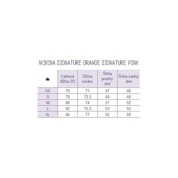 Mikina Signature Pink, veľkosť S