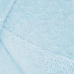 Svetlotyrkysová deka z mikrovlákna DecoKing Sardi, 170 x 200 cm