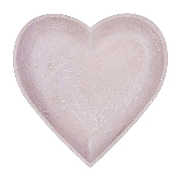 Drevená tácka Antique Heart