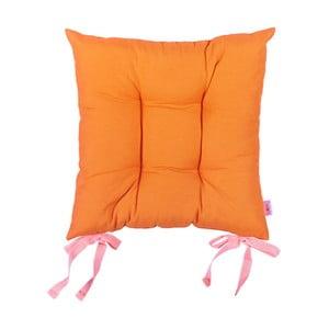 Oranžový podsedák Apolena Plain Orange, 41×41cm