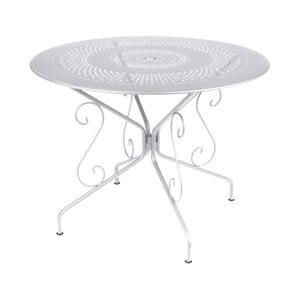 Biely kovový stôl Fermob Montmartre, Ø96cm