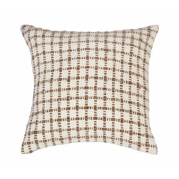 Béžová vzorovaná obliečka na vankúš Tiseco Home Studio Check, 45 x 45 cm