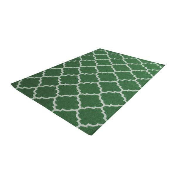 Zelený vlnený koberec Bakero Elizabeth, 180 x 120 cm