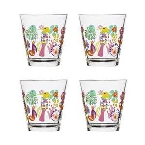 Sada 4 pohárov Fantasy 200 ml, fialová