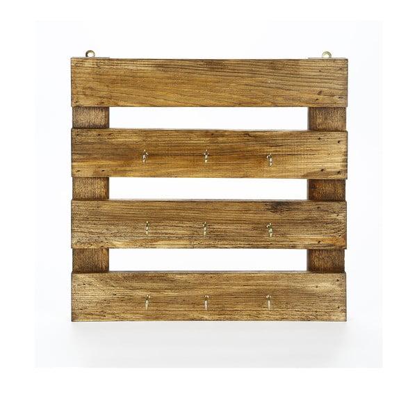 Kuchynský regál z masívneho dreva na hrnčeky Catalin Vienna, 45 × 45 × 6 cm