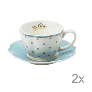 Porcelánová šálka s tanierikom Minitie od Lisbeth Dahl, 2 ks
