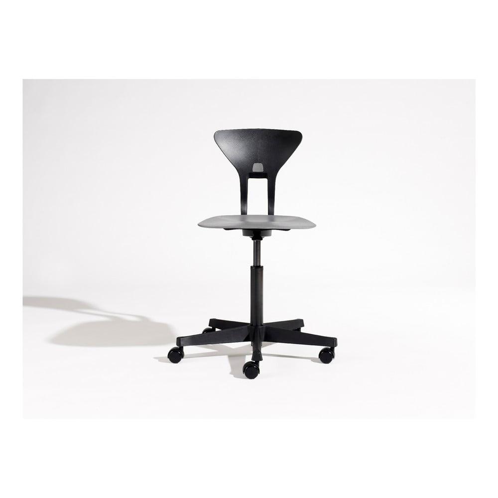 Sivo-čierna detská otočná stolička na kolieskach Flexa Ray
