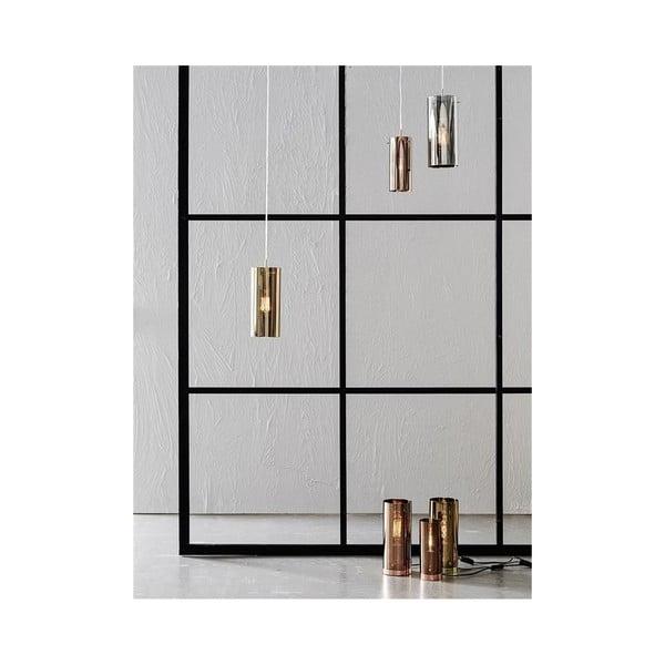 Stolová lampa v striebornej farbe Markslöjd Storm, ⌀ 9 cm