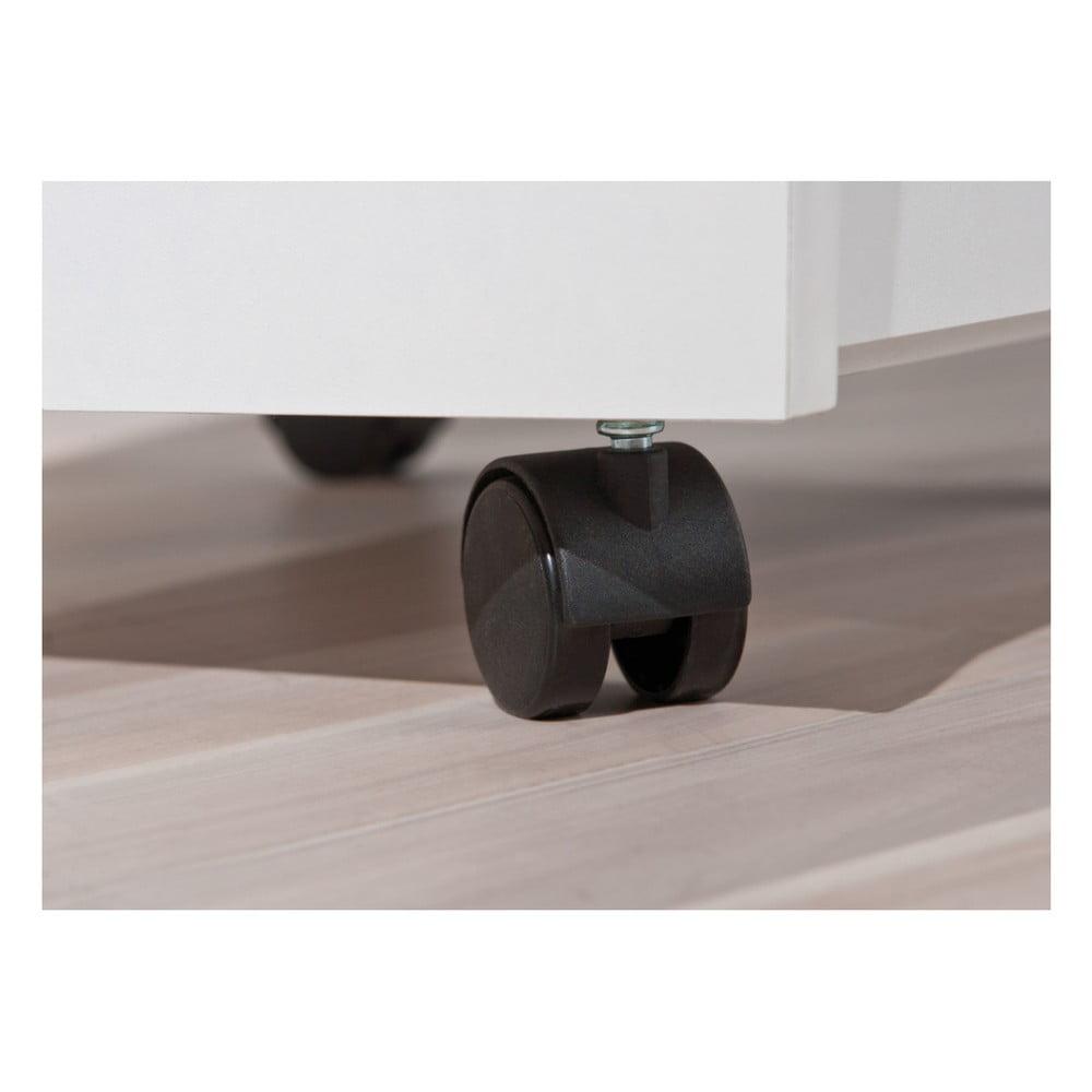 Biela pojazdná komoda s 4 zásuvkami Evergreen Hous Sofia Chcete, aby <b>váš domov vystihoval vašu pravú osobnosť?  Práve pre to všetko robí talianska značka <b>Evergreen House</b>, čo len môže.