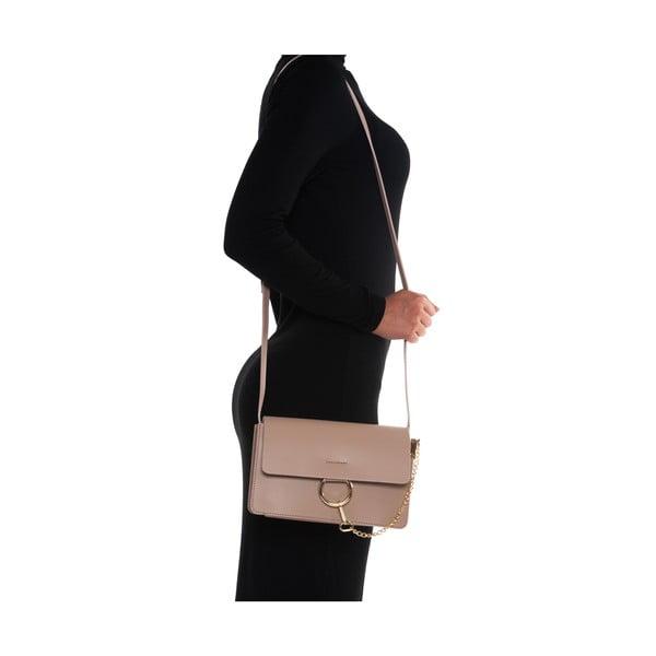 Kožená kabelka Carena, ružová