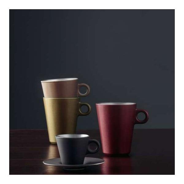 Hnedý metalický hrnček na cappuccino meniaci farbu LEONARDO Ooh! Magico