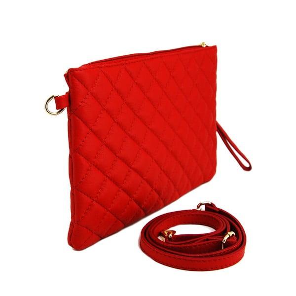 Kožená listová kabelka Terances Rosso