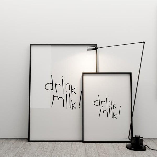 Plagát Drink milk, 100x70 cm
