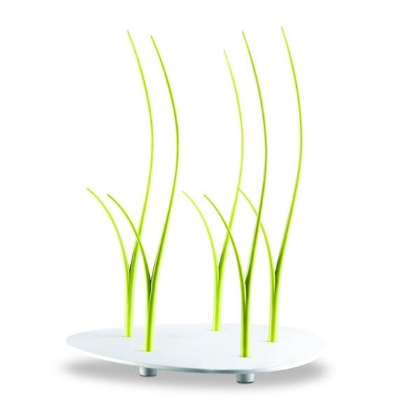 Zelená sada okrúhleho podnosu a paličiek na jednohubky Entity