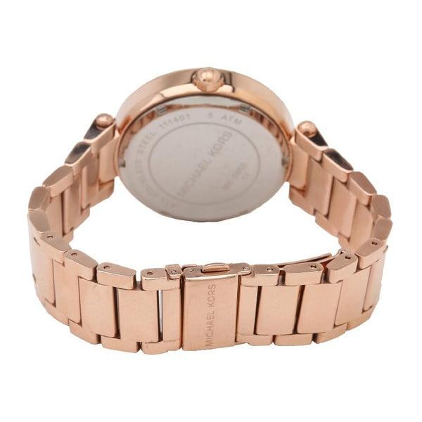 Dámske hodinky vo farbe ružového zlata Michael Kors Monograph