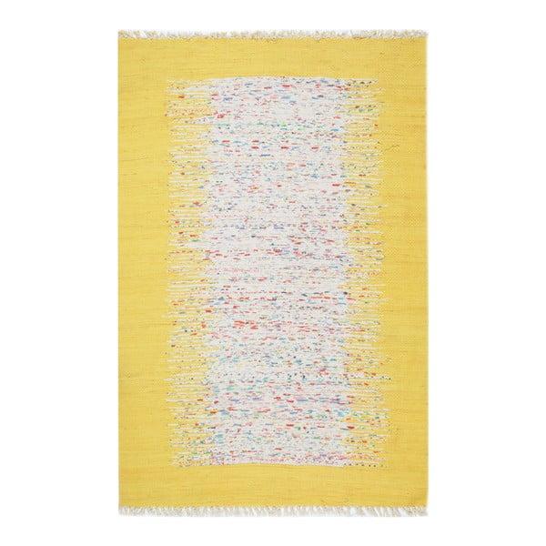 Žltý koberec Eco Rugs Yolk, 80×150 cm