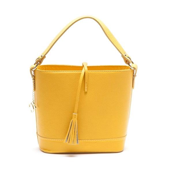 Kožená kabelka Renata Corsi 1162, žltá