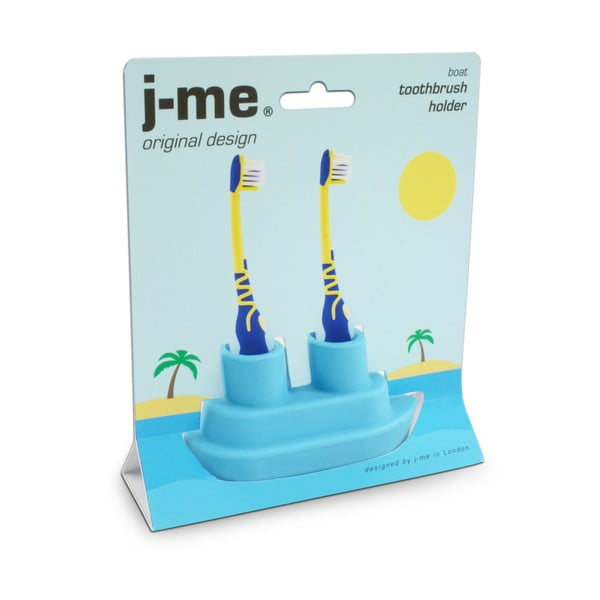 Modrý stojan na zubnú kefku J-Me Boat