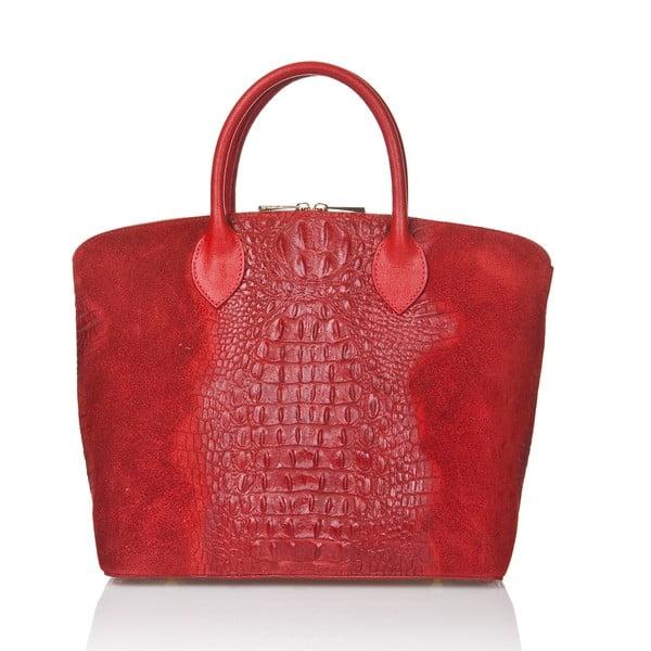 Červená semišová kabelka Giorgio Costa Candace