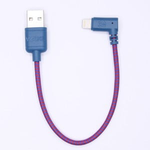 Nabíjací kábel Lightning pre iPhone 5 a iPhone 6 Wooky Urban, 20 cm