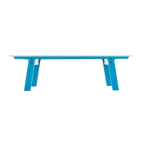 Modrá lavica na sedenie rform Slim 01, dĺžka 165 cm
