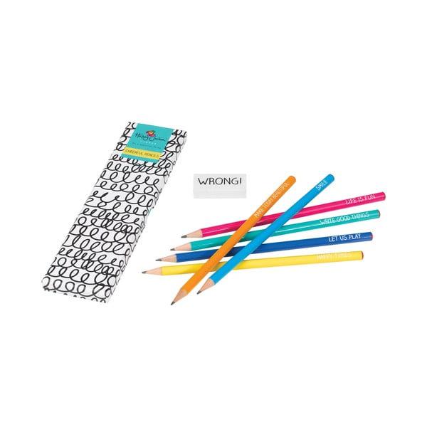 Sada 6 ceruziek Happy Jackson