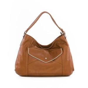 Hnedá kožená kabelka Gianni Conti Regina