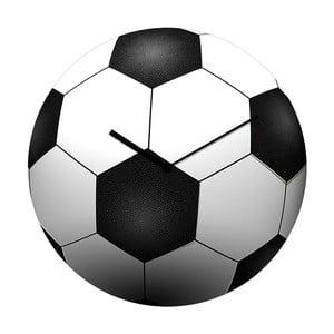 Sklenené hodiny Futbal, 34 cm