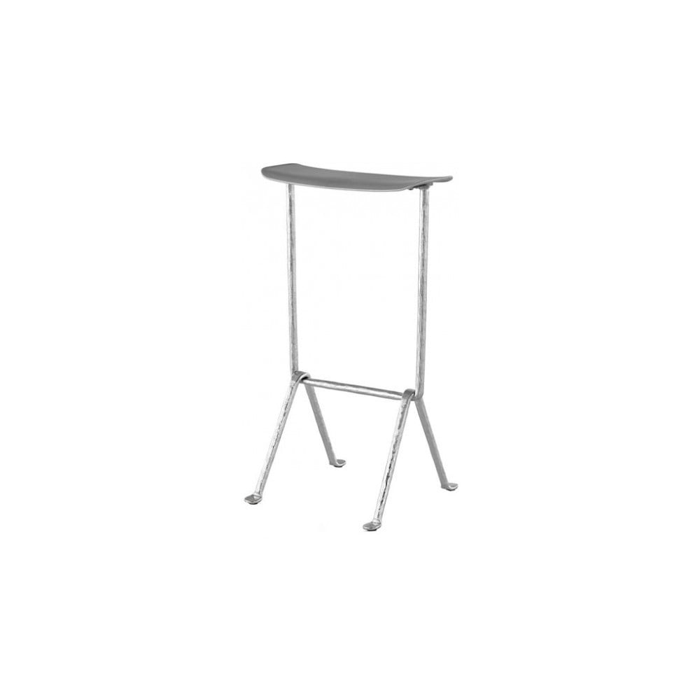 Sivá barová stolička Magis Officina, výška 65 cm