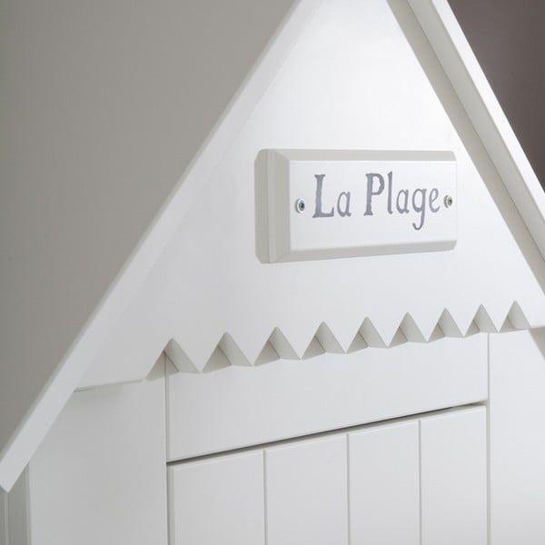 Biela šatníková skriňa Pinio Marseille