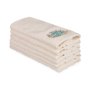 Sada 6 béžových bavlnených uterákov Nakis Luco, 30×50 cm
