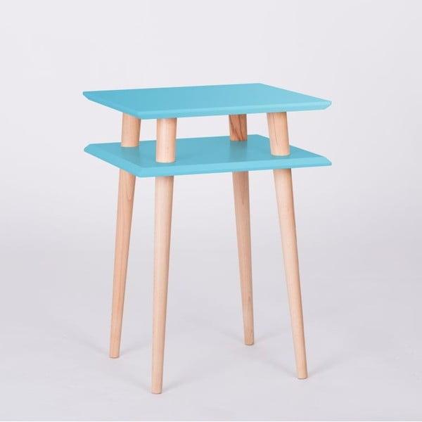 Konferenčný stolík UFO Square Dark Turquoise, 43 cm (šírka) a 61 cm (výška)