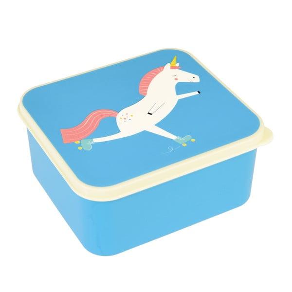 Modrý desiatový box s jednorožcom Rex London Magical Unicorn