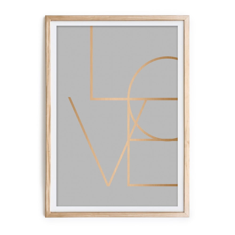 Obraz v ráme Velvet Atelier Love, 60 × 40 cm
