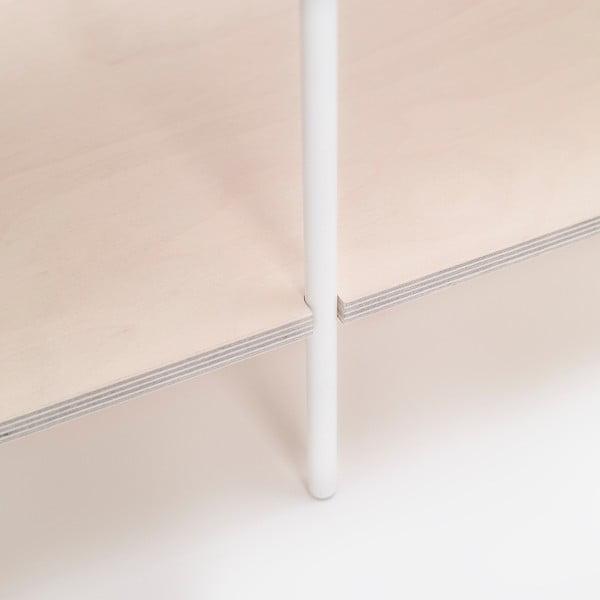Knižnica One - biela, 149x77 cm