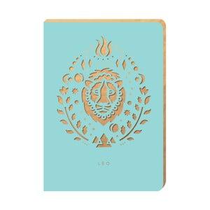 Linajkový zápisník Portico Designs Lev, 124 stránok