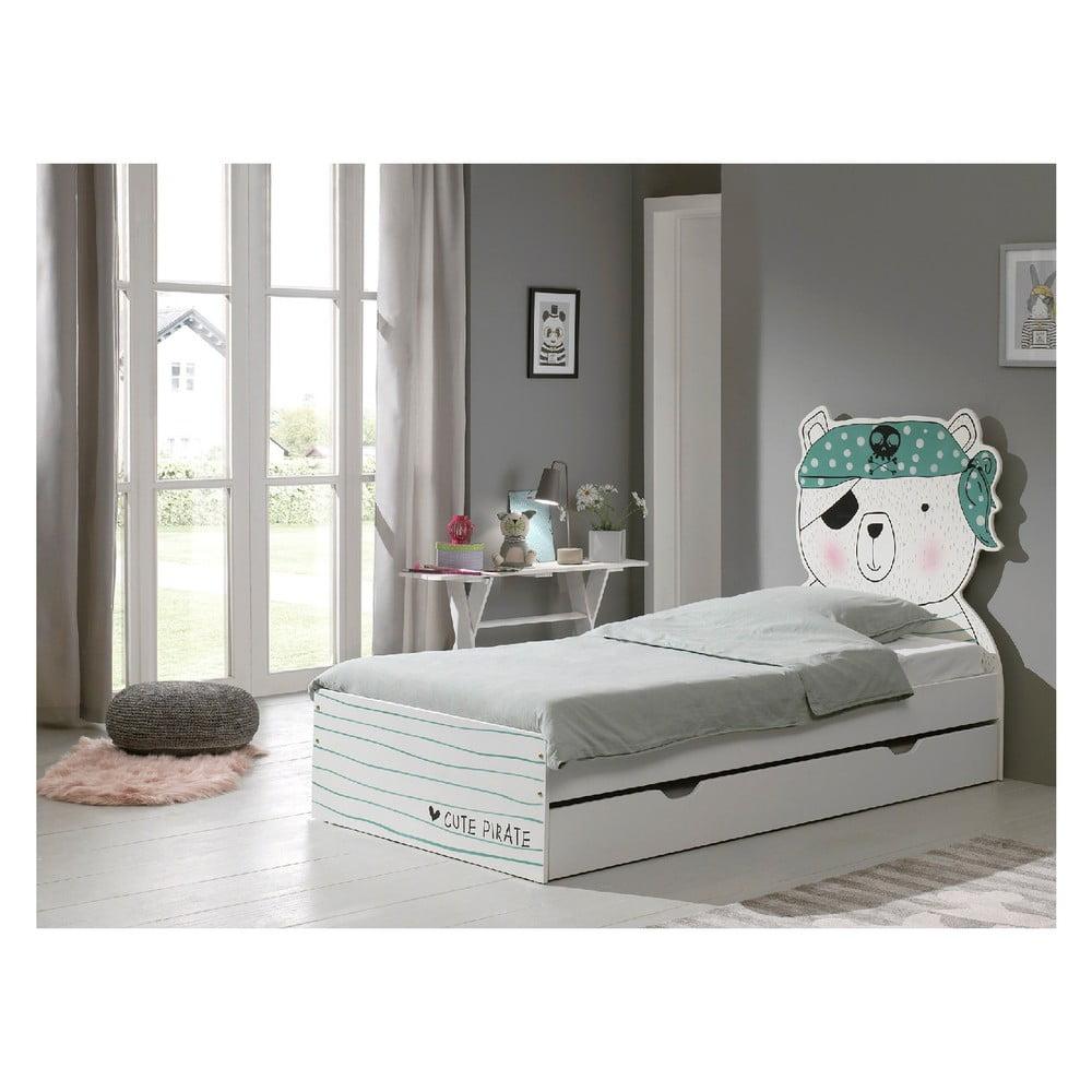 Detská posteľ Vipack Pirate, 90 × 200 cm