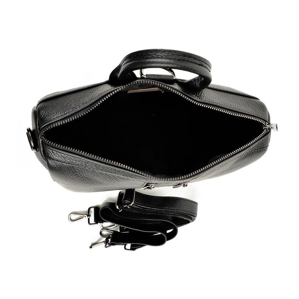 ce52de6c24 Čierny dámsky kožený batoh Luisa Vannini Sandra ...