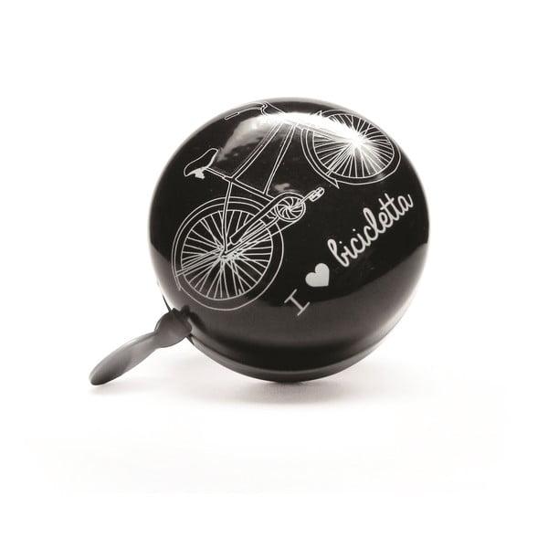 Zvonček na bicykel I ♥ Bicicleta, černý