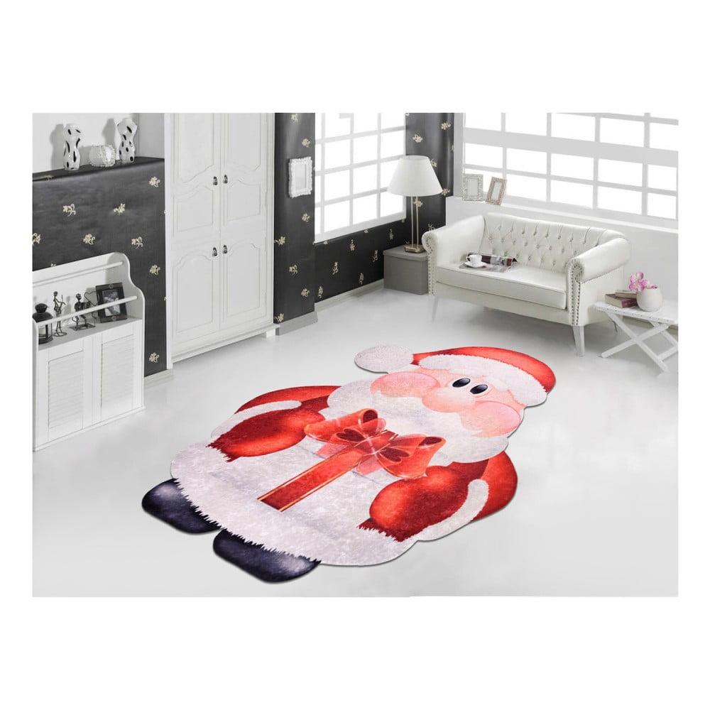 Červeno-biely koberec Vitaus Santa, 60 × 100 cm