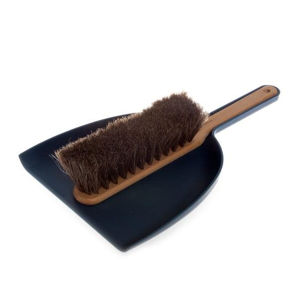 Zmeták s lopatkou Dust Pan Blue, konské vlasy