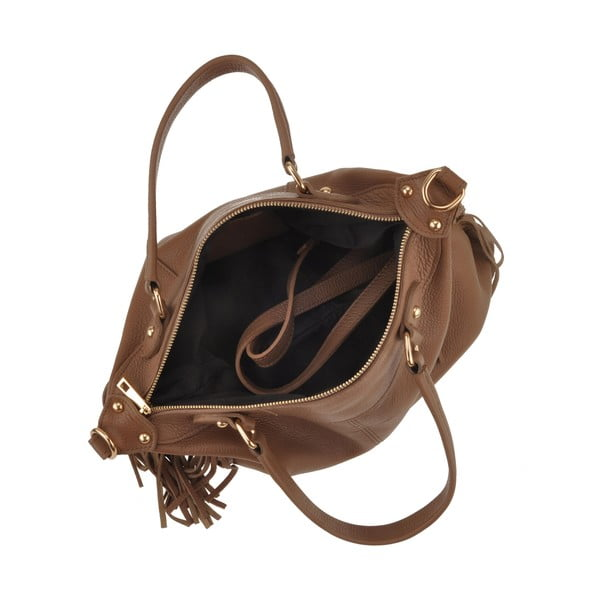 Kožená kabelka Emilio Masi Celaeno, hnedá