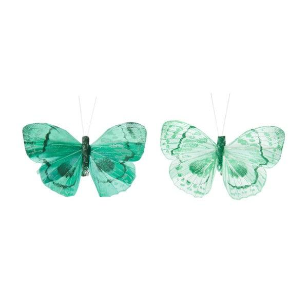 Sada dekoratívnych motýľov Blue Mix, 24 ks