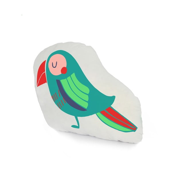 Bavlnený vankúšik Moshi Moshi Pretty Parrots, 40 x 30cm