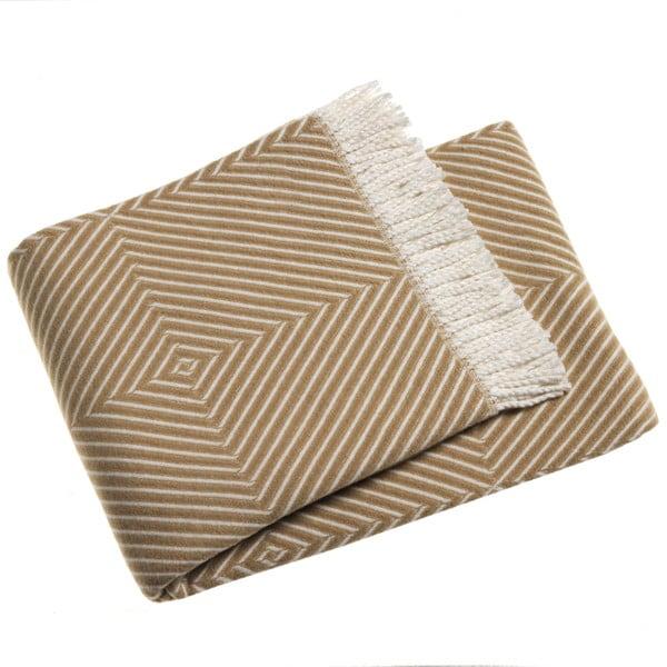 Béžová deka Euromant Tebas,140x180cm