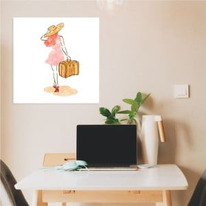Nástenný samolepiaci obraz North Carolina Scandinavian Home Decors Girl V1, 30×30 cm